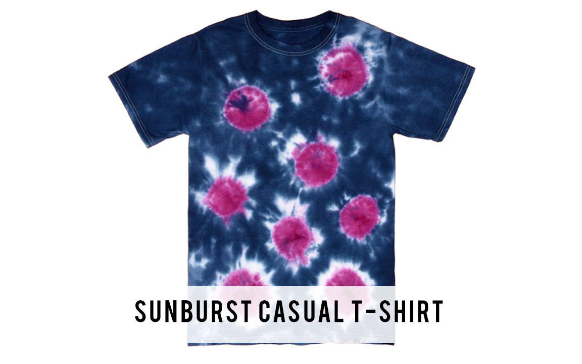 Sunburst casual t-shirt