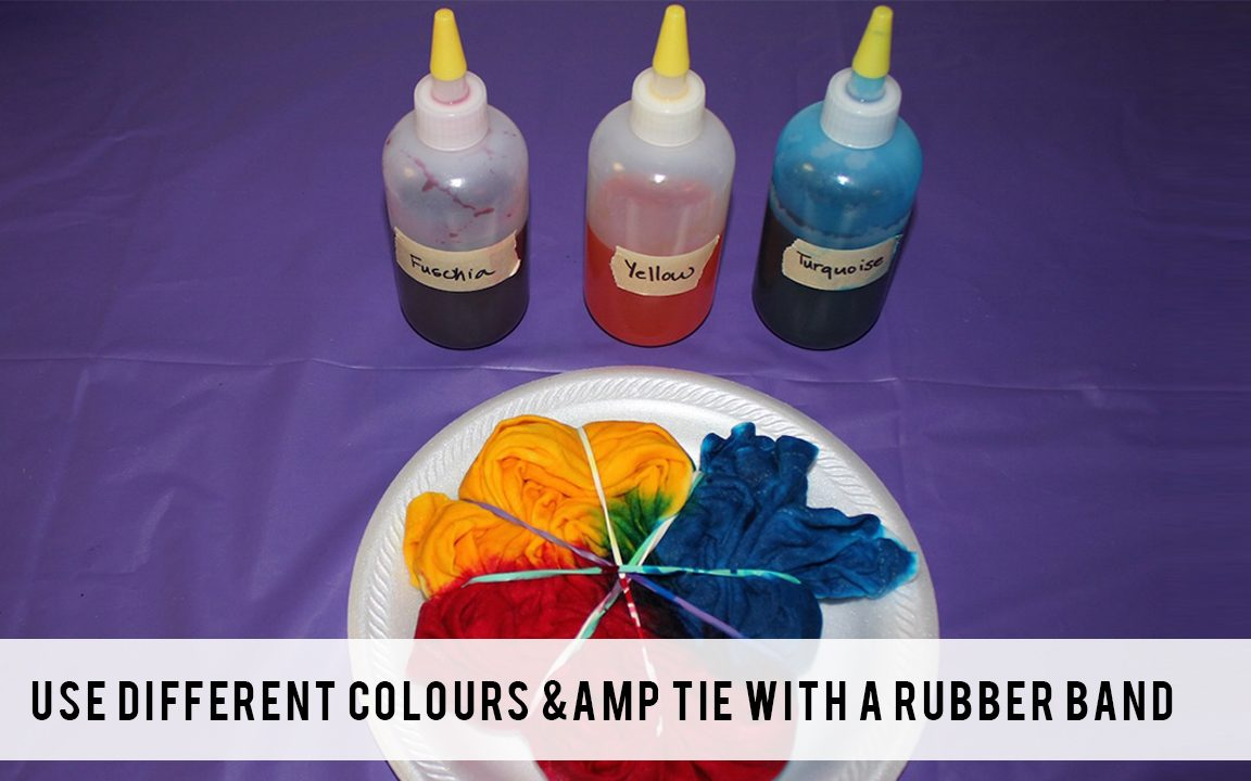 Use different colours _amp_ tie with a rubber band