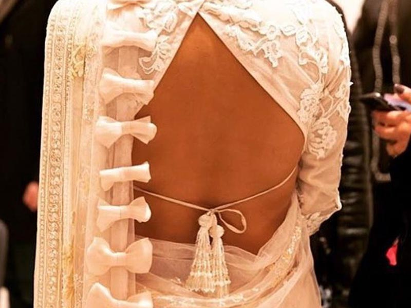 Backless Blouse with tassels