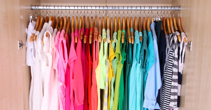 Color Coordinated Closet Aesthetic