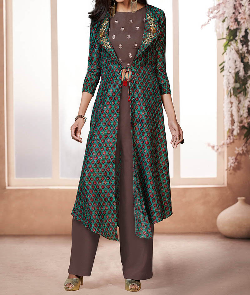 Hunar Online jacket with palazzo