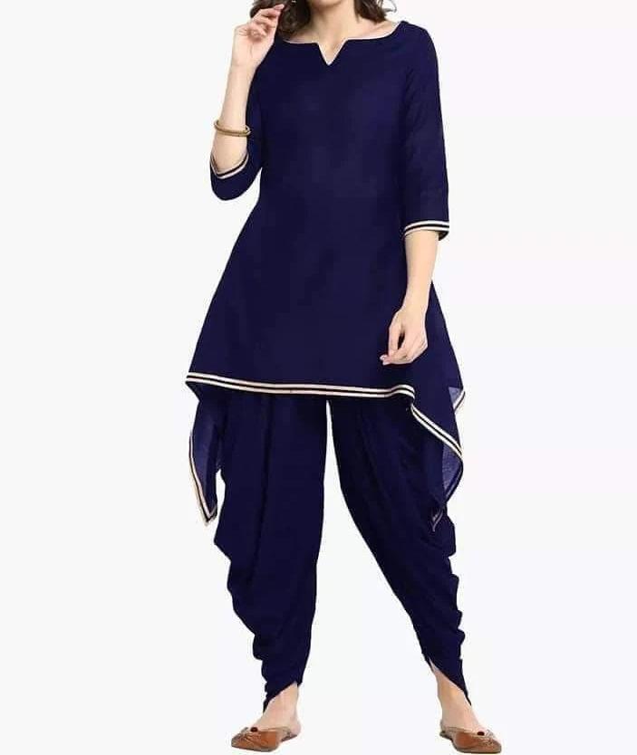 Hunar Online kurti with dhoti pants