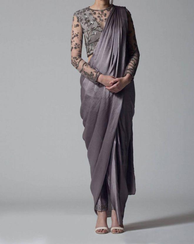 Hunar Online saree with dhoti pants