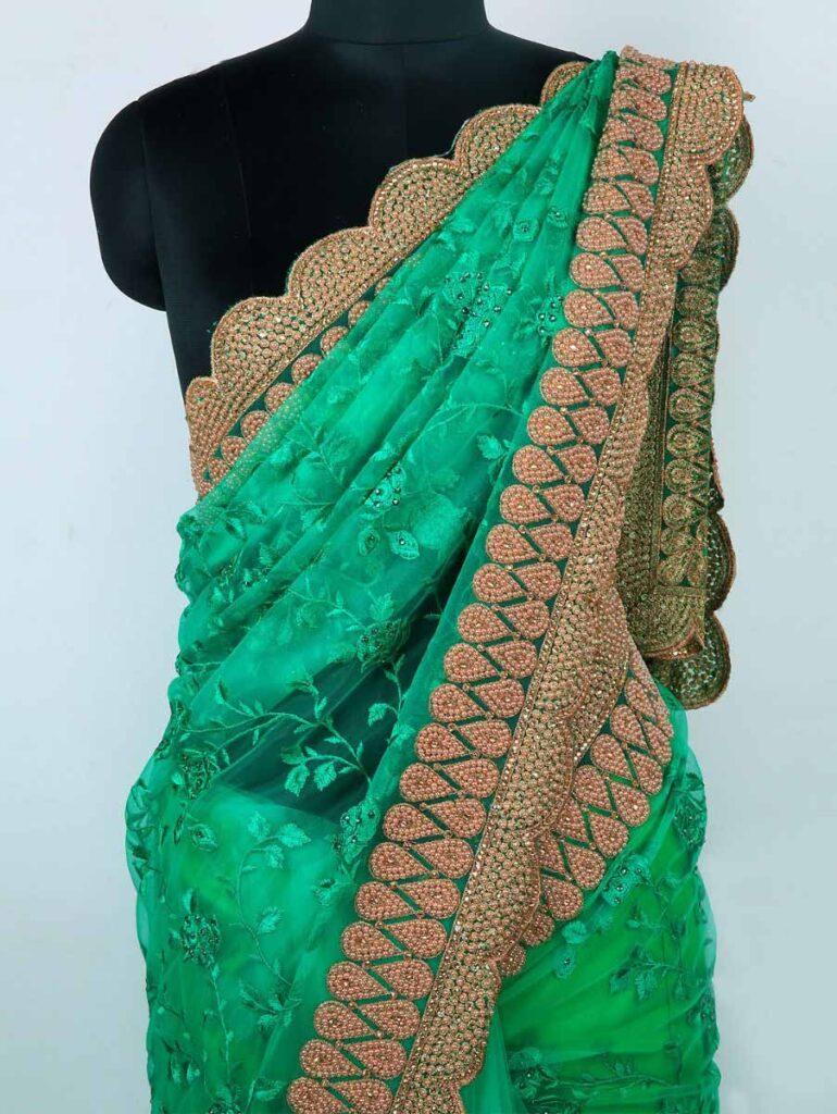 scallop saree border