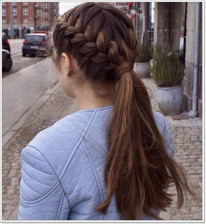 two side french braid