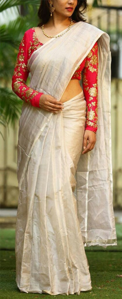 full sleeve saree blouse