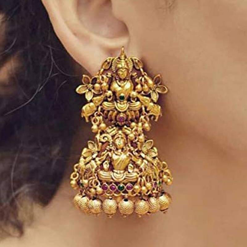 Hunar Online jewellery design gold earrings