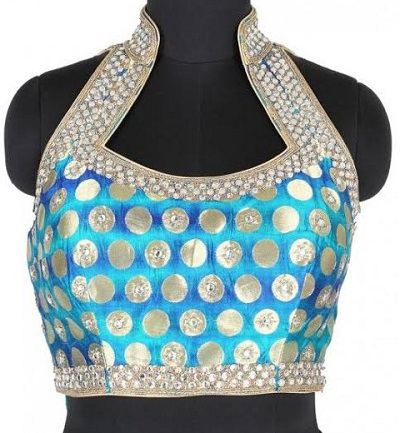 halter neck saree blouse