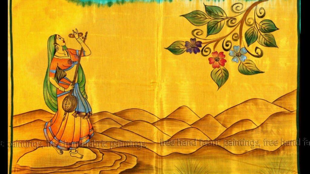 Indian hand paintings on fabrics