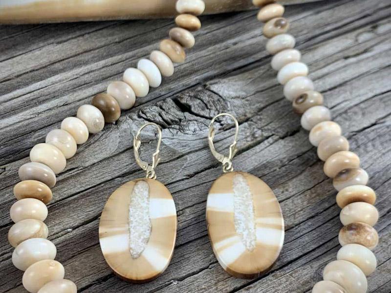 beaded ivory necklace