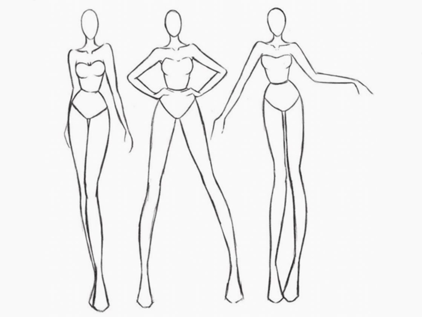 body figures in fashion illustration