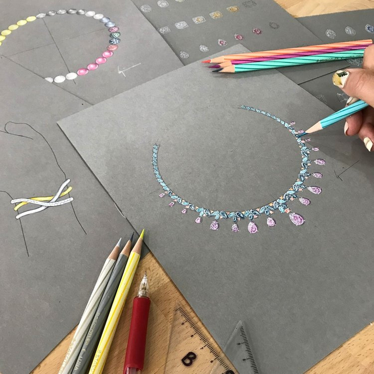 custom designer making jewellery