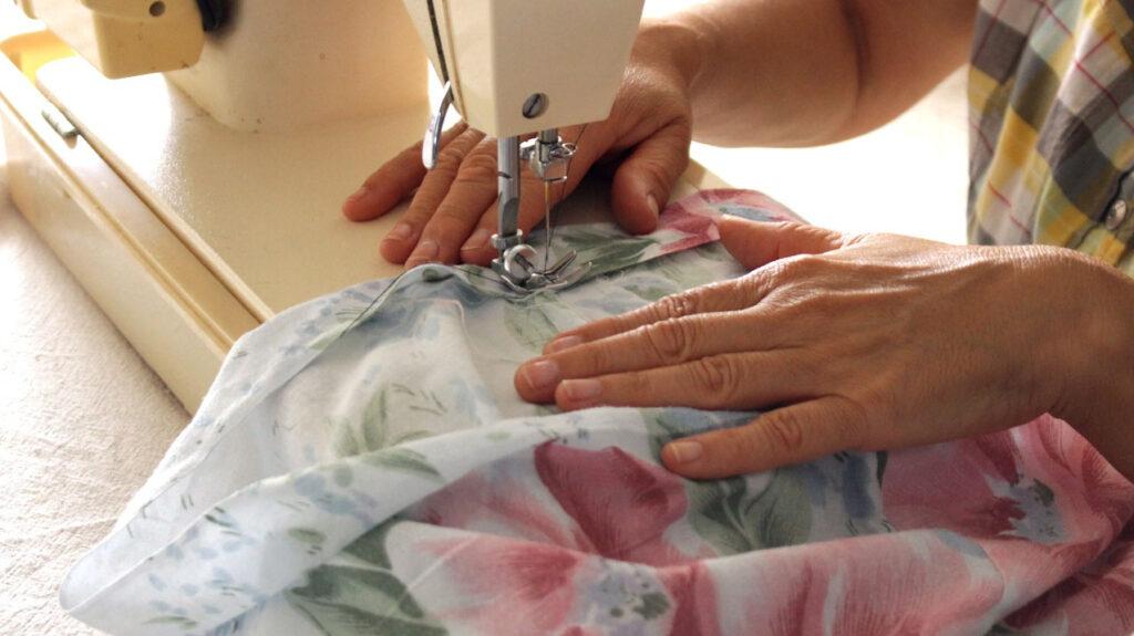 Sewing machine using
