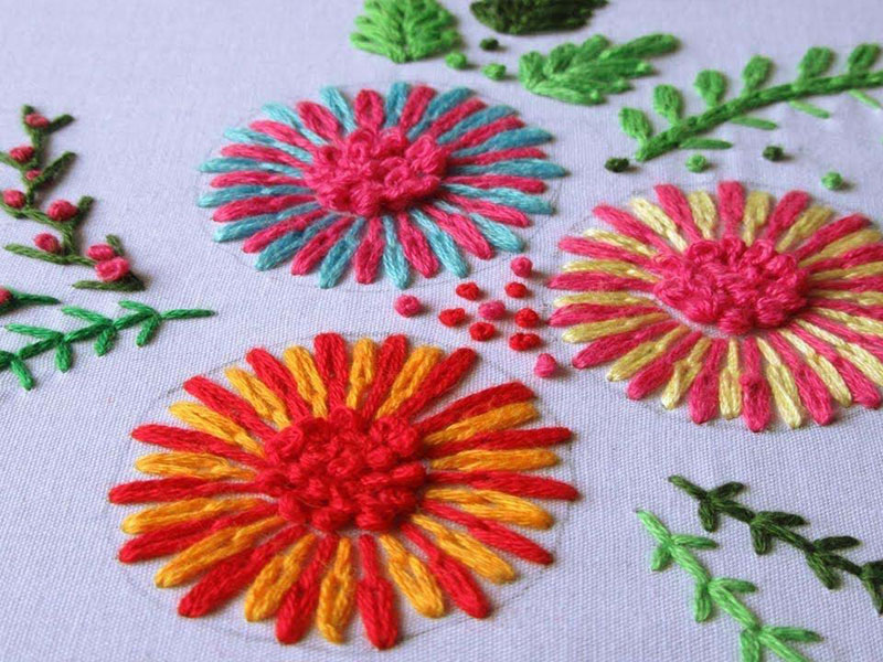 the lazy daisy stitch emroidery course
