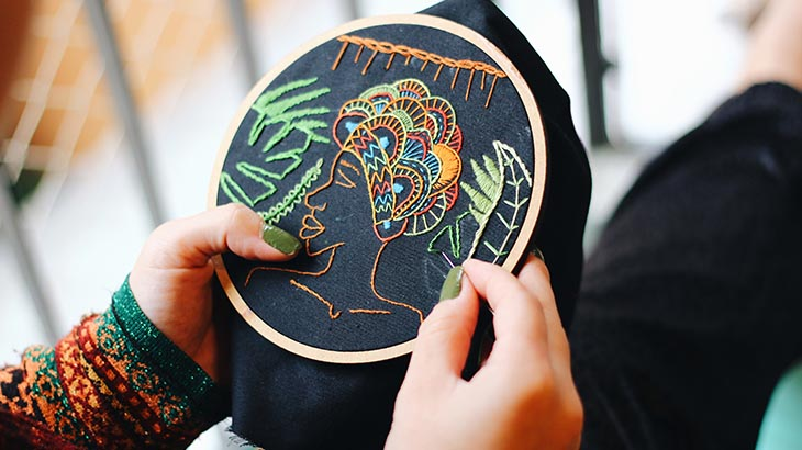 Fabric Designing- Embroidery Designs in India