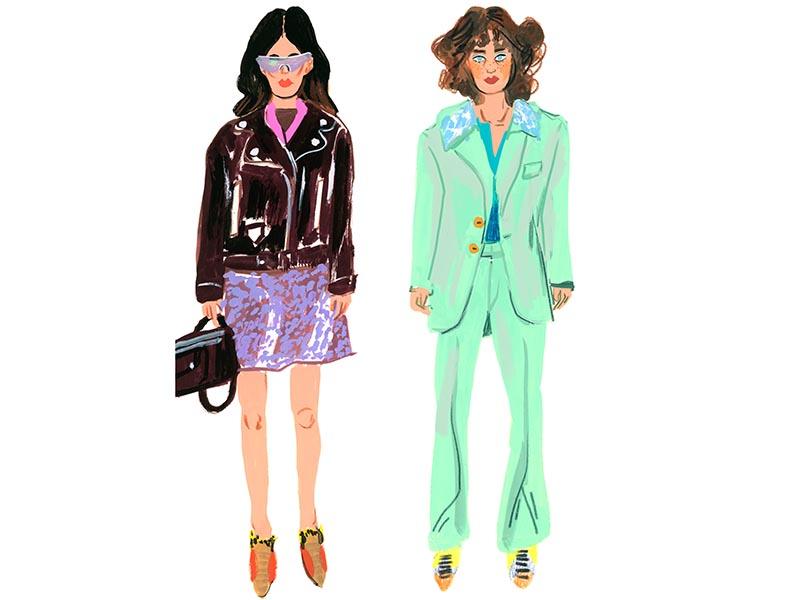 gouache fashion illustration