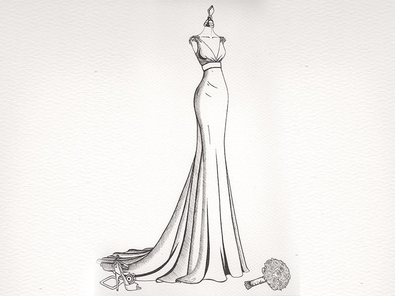 pencil fashion illustration