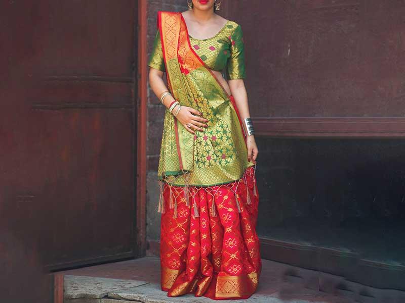 Gujarati Saree Drape