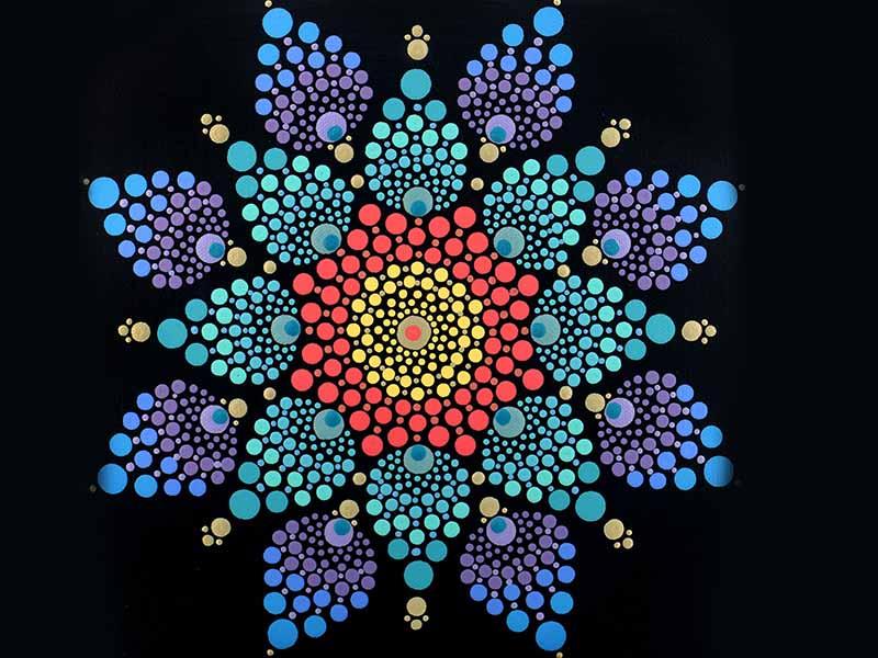 dot painting technique