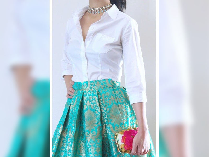 Indian Skirt with Shirt