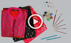 Fabric Designing - Indian Handpainting